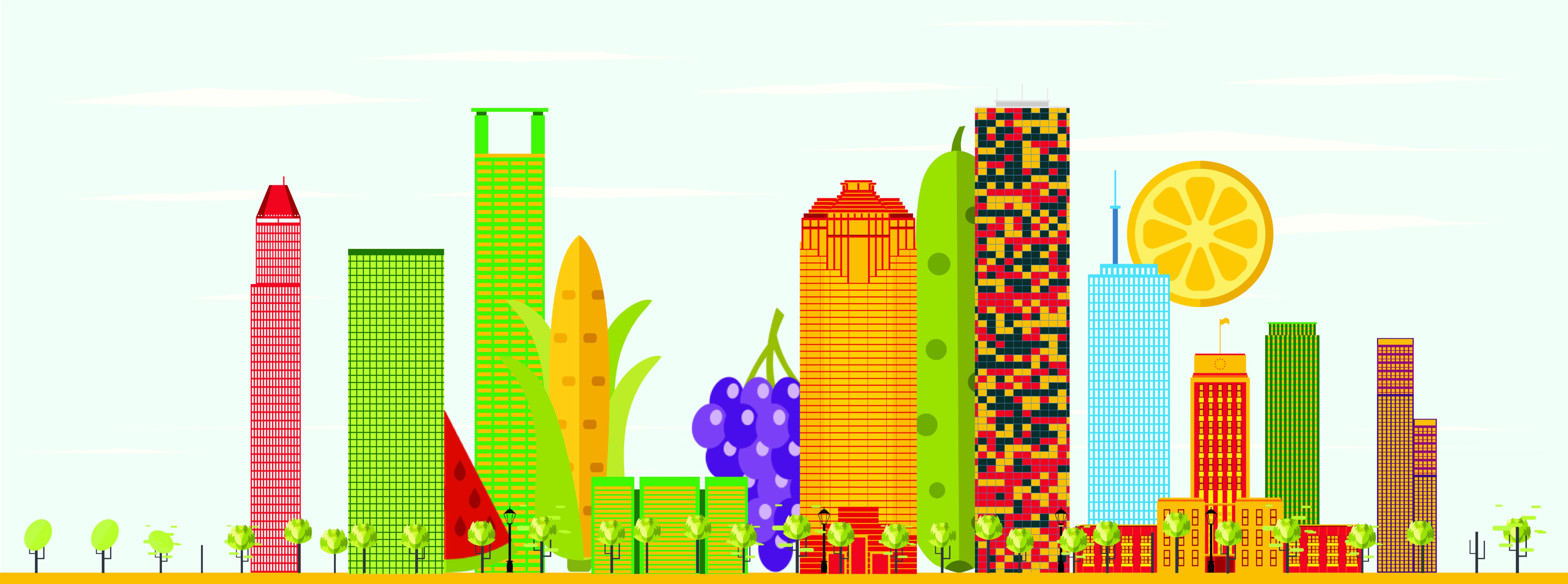 Urban Harvest Houston garden skyline cityscape